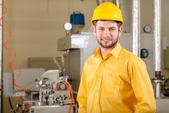 Engineer working in factory stock photo