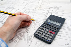 Engineer working on a project Stock Image