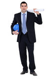 Engineer working on-site Royalty Free Stock Image