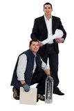 Engineer and a workman Stock Photography
