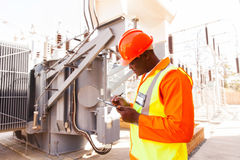Engineer writing clipboard Stock Image