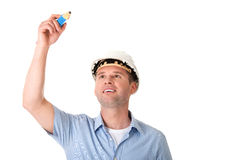 Engineer writing on copy space Royalty Free Stock Images
