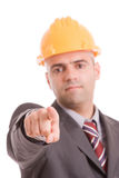 Engineer with yellow hat Royalty Free Stock Photography