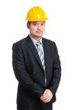Engineer with yellow helmet Stock Image