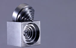 Engineered precision cut metal Royalty Free Stock Photos