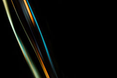 Engineering abstract background. Blurred wire on a black background Stock Photography
