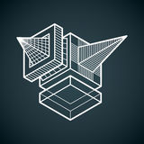 Engineering abstract shape, 3d vector polygonal figure. Royalty Free Stock Photography