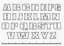 Engineering alphabet stock illustration