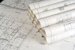Engineering and Architecture Drawings 2. Engineering and Architecture Drawings with some rolled stock photography