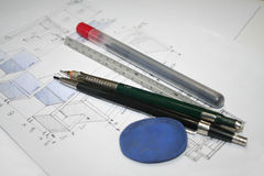 Engineering and Architecture Drawings Stock Photography