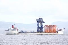 engineering av ships Arkivbilder