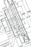 Engineering blueprint Royalty Free Stock Photo