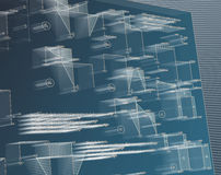 Engineering  blueprints Royalty Free Stock Photos