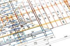 Engineering blueprints Stock Photography