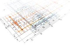 Engineering blueprints Stock Photos