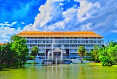 Engineering building of Thamasat Univesity. This building is for engineering (scholar and student) in Thamasat University Thailand Stock Photo