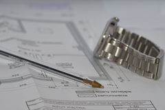 Engineering calculations Stock Image