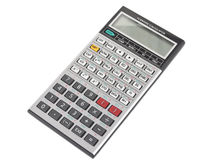 Engineering calculator isolated Royalty Free Stock Photo