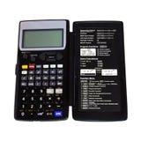 Engineering calculator isolated stock image