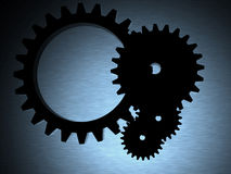 Engineering cogwheels Stock Photo