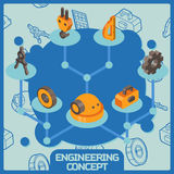 Engineering color isometric concept Royalty Free Stock Photo