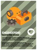 Engineering color isometric poster. Vector illustration, EPS 10 Royalty Free Stock Image
