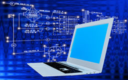 Engineering computer Internet technology Royalty Free Stock Photography