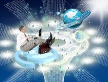Engineering computer technology.Generation. Digital communications Stock Image