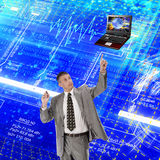 Engineering computers designing Royalty Free Stock Photography