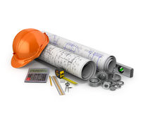 Engineering concept, construction tools Stock Photo