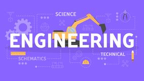 Engineering concept. Idea of the education and learning vector illustration