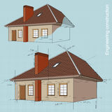 Engineering construction of buildings. drawings Royalty Free Stock Images