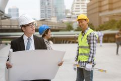 Engineering construction concept : professional engineer team me Royalty Free Stock Photo