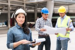 Engineering construction concept : professional engineer team me Stock Photo