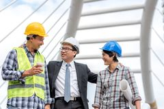 Engineering construction concept : professional engineer team me Royalty Free Stock Photos