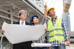 Engineering construction concept : professional engineer team me Royalty Free Stock Photography