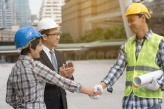 Engineering construction concept : professional engineer team me Stock Image