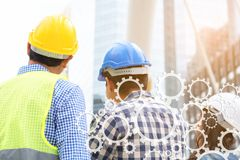 Engineering construction concept : professional engineer team me Stock Photos
