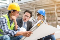 Engineering construction concept : professional engineer team me Royalty Free Stock Images