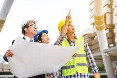 Engineering construction concept : professional engineer team me Stock Photography