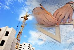 Engineering construction designing concept stock photography