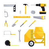 Engineering and construction icon set Royalty Free Stock Image