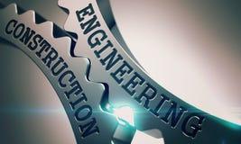 Engineering Construction - Mechanism of Metal Gears. 3D. Stock Photos