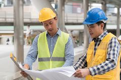 Free Engineering Construction Teamwork Concept : Professional Engineer Work Industrial Project Site Royalty Free Stock Images - 108204639