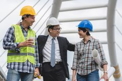Free Engineering Construction Teamwork Concept : Professional Engineer Work Industrial Project Site Stock Image - 108204891