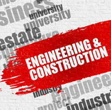 Engineering And Construction on the White Wall. royalty free illustration