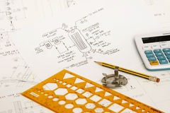 Engineering design Royalty Free Stock Photo