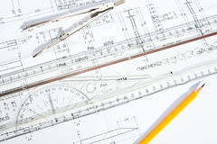 Engineering Design and Drawing Stock Image