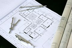 Engineering Design and Drawing. Typical depiction of engineering design and drawing work royalty free stock photos