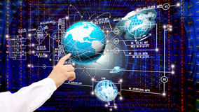 Engineering designing connection tecnology Stock Photo